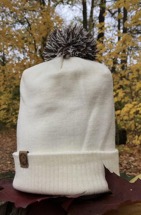 Beanie Bommelbiker White Mocca